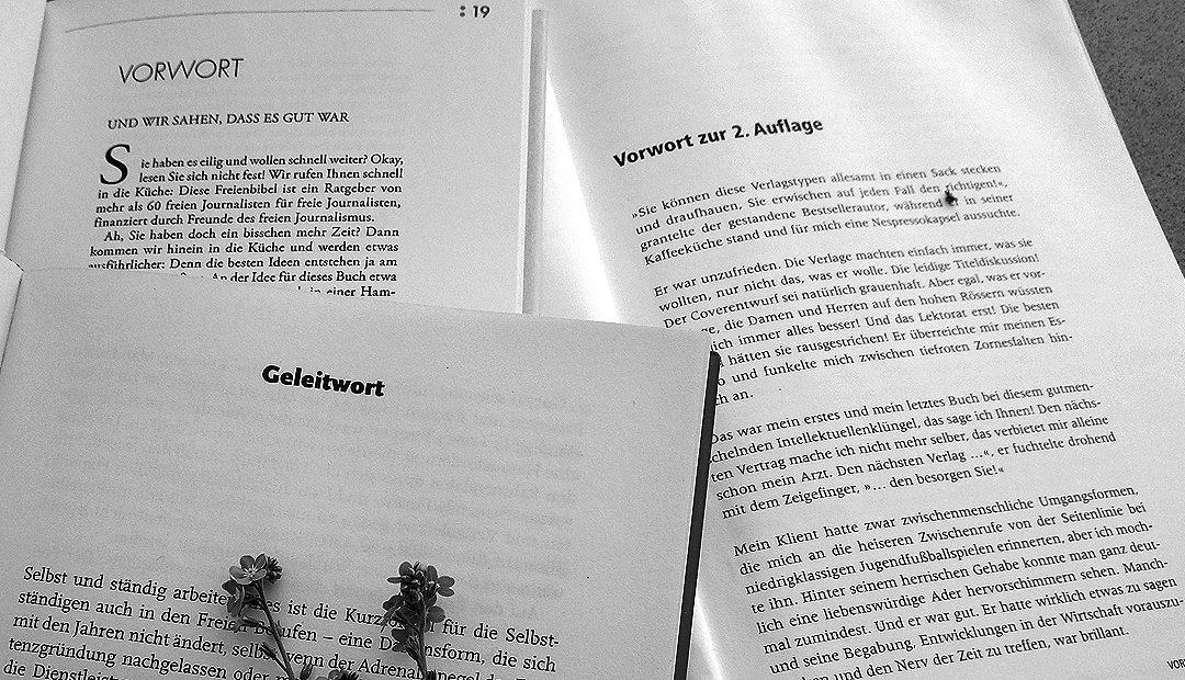 Das Vorwort zum Sachbuch – wann schreibe ich das eigentlich?